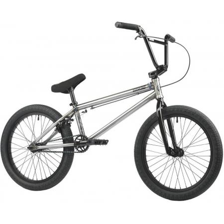 United Recruit 16 Gloss Black With Blue Speckle 2018 Complete BMX Bike