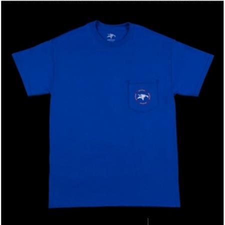 T-Shirts Animal Emblem Pocket L Blue