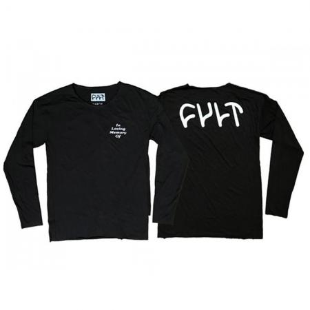 T-Shirts Memorandum Long Sleeve Black Large