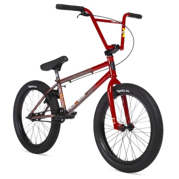 Велосипед BMX STOLEN SINNER FC 2020 21 RHD RoadKill красный с исчезающими брызгами