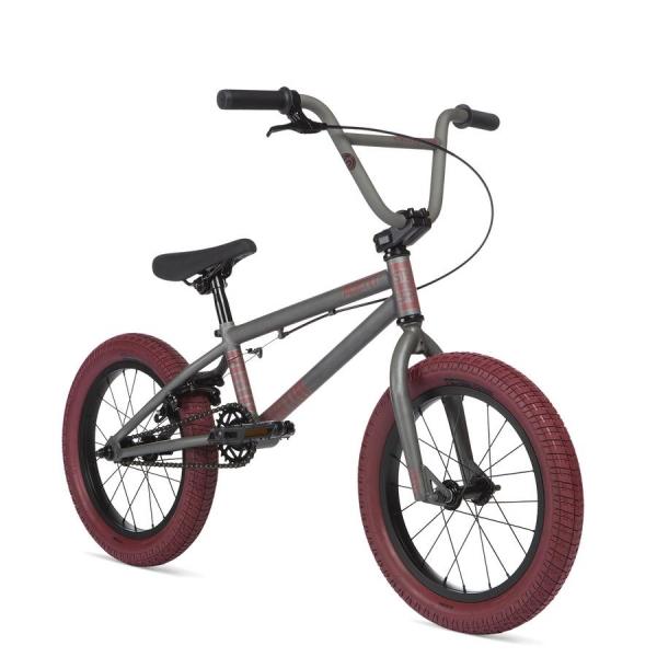 Велосипед BMX STOLEN AGENT 16 2020 16.25 матовый некрашеный с красными покрышками