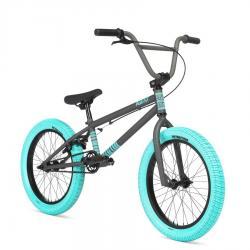 Велосипед BMX STOLEN AGENT 18 2020 18 матовый некрашеный крашеный с темными синими покрышками