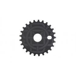 Odyssey Discogram 25t Black 3 Decals Included Sprocket