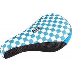 Седло BMX Stolen Fast Times XL FAT Pivotal белое с синим