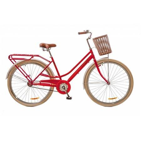 "Велосипед 28"" Dorozhnik COMFORT FEMALE 14G St с багажником зад St, с крылом St, с корзиной Pl 2017"