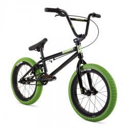 Велосипед BMX Stolen 2021 AGENT 16 черный с зеленым